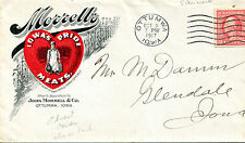 Vintage Advertising Envelope MORRELL'S IOWA PRIDE MEATS Ottumwa Pork Bacon Ham