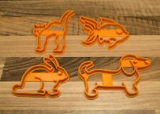 Pet Cookie Cutters-Cat Cookie Cutter, chien Cookie Cutter, poisson rouge et lapin