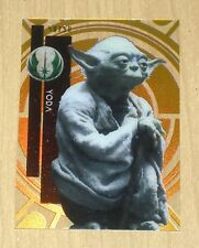 2015 Topps Star Wars High TEK GOLD Rainbow YODA #6 50/50