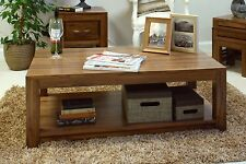 Oskar solid walnut home living room furniture coffee table with magazine shelf