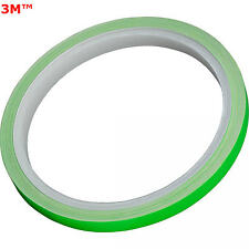 STRISCE MOTO BIKE ADESIVI CERCHI STRIPE VERDE LIME ENERGY MONSTER 7mm x 6MT