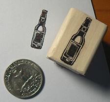 Beer bottle miniature rubber stamps WM P24