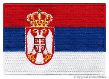 SERBIA FLAG embroidered iron-on PATCH SERBIAN EMBLEM Belgrade applique Srbija