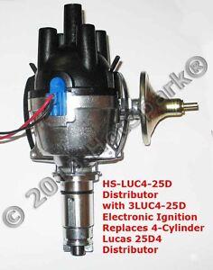 4-cyl HS25D4 Electronic Distributor for Lucas Austin BMC Ford Jensen Morgan 12V