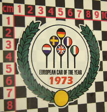 1973 Car of the Year Sticker for Audi 80