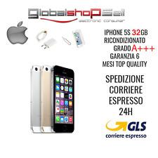 apple iphone 5s 32 gb grado A++ silver oro  originale rigenerato ricondizionato