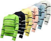 Boy's Kids Crew Neck Stripe Jumper / Knitted Sweater