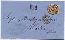 BELGIUM, MAIL, ANNUL GAND, 1873, STAMP BELGIQUE OF 30, SENT TO LILLE           m