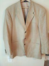 Ralph Lauren Tan/Beige Tweed Silk/Wool Blend Jacket Sport Coat 46Tall