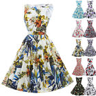 Bohemia Floral Style Vintage 50's Housewife Swing Pin Up Prom Dresses