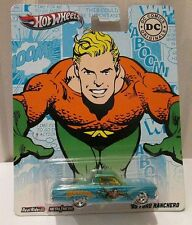 HOT WHEELS ~ '65 FORD RANCHERO FALCON UTE ~ 2011 DC COMIC AQUAMAN ~ VEIN ON CARD