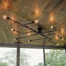Industrial Vintage Semi Flush Mount Ceiling Chandelier Steampunk Pendant Light