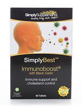 Immunoboost with Black Garlic 60 Tablets | Immune Support & Cholesterol Control
