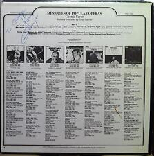 George - Feyer Memories Of Popular Operas LP Mint- ANL1 1133 Vinyl 1975 Signed