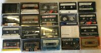 Lot Of 20 Pre-recorded Cassette Tapes Use As Blanks TDK Maxell Scotch Avanti
