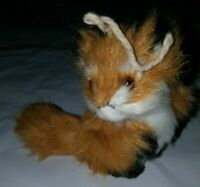 "Vintage Fox Figure Real Fur Figurine Ornament Mini 3"" Glass Eyes Mohair Steiff ?"