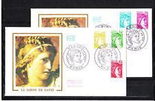enveloppe 1er jour    Sabine  série de  juin   1978