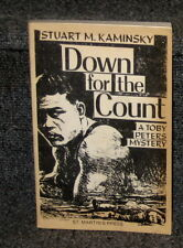 DOWN FOR THE COUNT BY STUART KAMINSKY TOBY PETERS MYSTERY UNCORRECTED PROOF COPY