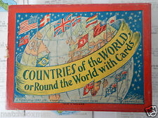 COUNTRIES OF THE WORLD H P GIBSON & SONS COMPLETE 64 CARDS RULES CIRCA 1925 B12