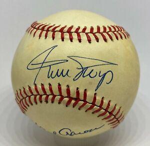 Willie Mays Eddie Mathews + Hank Aaron Signed Baseball PSA/DNA Sticker ONLY