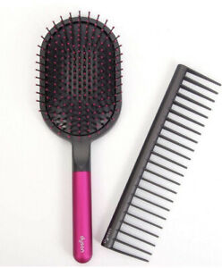 NEW - Dyson Detangling Comb And Paddle Brush Styling Set Comb WideTooth - No Box