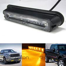 6 LED GRILL STROBE LIGHT BAR EMERGENCY BEACON WARNING WORK LIGHT AMBER 12V/24V