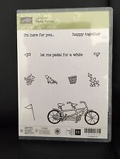 "NEW Stampin Up ""PEDAL PUSHER"" - Sale-A-Bration 2016 Photopolymer Stamp Set"