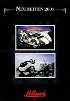 2008SCH Schuco Neuheiten 2001 Prospekt 16 Seiten Modellautos brochure model cars