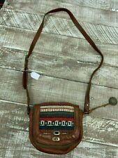 Will Leather Goods Oaxacan Aztec Crossbody Retail $225