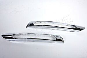 Genuine Day Running Light Chrome Cover Trims Pair MERCEDES E Class W212 10-12