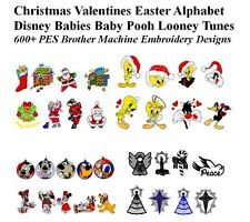 Christmas Valentines Easter Disney 600+ PES Brother Machine Embroidery Designs