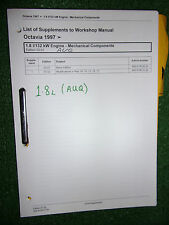 SKODA OCTAVIA 1.8L 132kw (AUQ) ENGINE FUEL INJECTION OEM WORKSHOP MANUAL 2004>