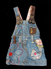 Baby Girls Awesome NEXT 100% Cotton Denim Overall Dress ~ 3-6 months 000