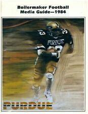 1984 Purdue Boilermaker Football Media Guide Magazine  - MINT
