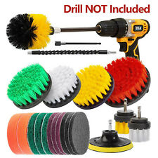21Pcs Drill Brush Attachment Set for Cleaning Power Scrubber Brush Pad Sponge