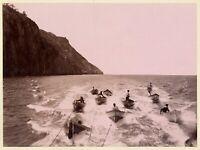 Campania Sorrento (?) Pescatori Foto originale albumina Sommer 1870c XL401