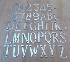 "3 ""/ 75mm Laiton Massif Maison Porte Lettres Alphabet Porte Nom Signe Plaque Etc"