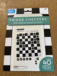 Blue Sky Fridge Checkers Draughts Magnetic Game BNIP 40 Pieces & Board Gift New