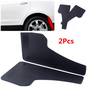 2X Black Auto Fenders Accessories Racing Car Front & Rear Mud Flap Splash Guard