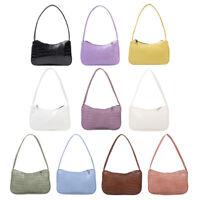 Retro Alligator PU Leather Handbag Women Casual Zipper Totes Shoulder Bags N#S7