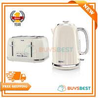 Breville Impressions 1.7LJug Kettle & 4 Slice Toaster Set Cream