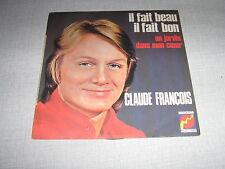 CLAUDE FRANCOIS 45 TOURS FRANCE UN JARDIN DANS MON COEUR