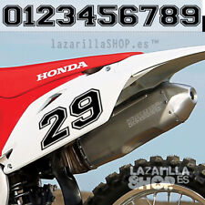 NUMEROS ADHESIVOS DORSAL MOTOCROSS numeros moto Racing Pegatina sticker vinilo
