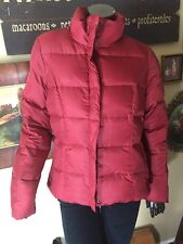 Women's Eddie Bauer Red Wine Premium Goose Down Quilted Jacket Coat Med