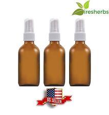 SPRAY BOTTLE GLASS AMBER ESSENTIAL OILS SPRAYER EMPTY 6 FL OZ (177 ML) 3 BOTTLES