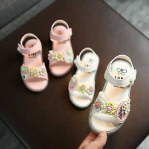 Toddler Infant Kids Baby Girls Cute Floral Soft Princess Shoes Beach Sandals US