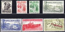 PAPUA NEW GUINEA #139-43, 145-46 USED