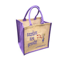 """""""Aunties are Great"""" Jute Shopper from These Bags Are Great"""