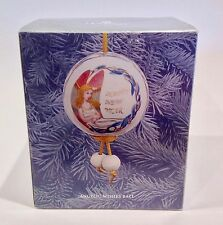 Lladro Angelic Wishes Ball Matte Porcelain Ornament Iob
