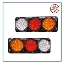 Tail Lights Pair 4 Function 96 LEDS Suits Toyota Landcruiser 75 78 79 Series